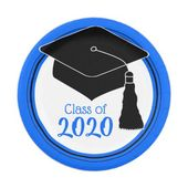 Class Of 2020 Grad Cap Blue And Black Paper Plate Zazzle Com Diy Graduation Cap Graduation Diy Black Paper