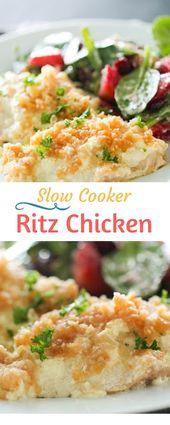Slow Cooker Ritz Chicken | Salty Sweet Recipes