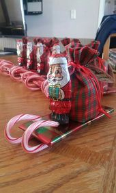 Adorable Christmas Gifts for Kids on a Budget – Santa Candy Sleighs
