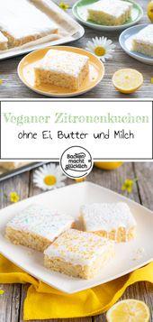 Vegan lemon cake   – Vegane Backrezepte