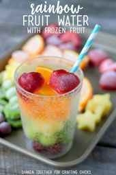 Refreshing Rainbow Fruit Water with Frozen Fruit  – Nonalcoholic Drink Recipes -…   – Food