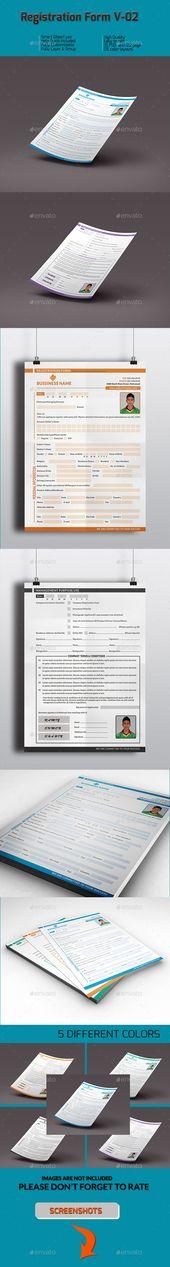 Registration Form V-02 Registration form, Font logo and Fonts - registration form