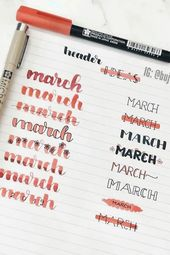 35+ Finest Bullet Journal Header & Title Concepts For 2020 – Loopy Laura
