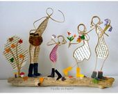 Winter stroll – collectible figurines Twine bolstered kraft and unique papers – house decor bed room present unique winter stroll