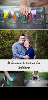 34 Science Activities For Toddlers #scienceexperimentsforpreschoolers Toddler science activities, ST…
