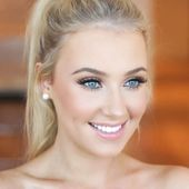 : This bridal make-up ensures you the perfect appearance on the wedding day –  ideas light bride make up blue eyes #wedding #make up  – #appearance #b…