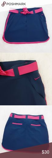 Nike Golf Tour Performance Skirt Navy Pink 10 Nike Golf Tour Performance skirt w…
