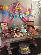 Vintage Circus Theme Baby Shower created by Something Blue Event Planning and De… – 18