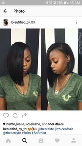 Blunt Cut Weave Side Part : blunt, weave, Follow>>>>, @pinkkbitchh, Quick, Weave, Hairstyles,, Hairstyles