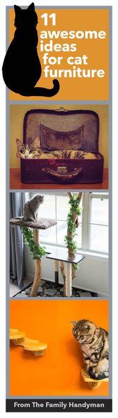 11 fantastische Ideen für DIY Katze Möbel – #awesome #cat #DIY #FURNITURE #Ideas