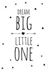 Plakat für Kinder träumen große kleine – Monika – Diy – Kinderzimmer Ideen