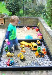 DIY Sandkasten und Kiesgrube
