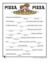Pizza Pizza Funny Mad Libs – Printable mad libs