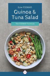 Auf der Suche nach einer gesunden Idee fürs Mittagessen? Schauen Sie sich diese niedrige FODMAP Quinoa und Thunfisch sala …   – Low FODMAP Diet Recipes