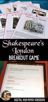 This Introduction to Shakespeare is an Escape Room or Digital Breakout exercise….