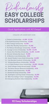 I am so glad that I found this list without essay scholarships because …