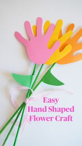 Easy Hand Shaped Flower Craft 2