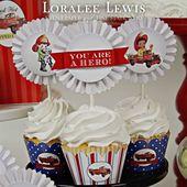 Fireman Cupcake Kit von Loralee Lewis Das Fireman Cupcake Kit ist der beste …