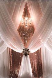 42 idées de décoration de mariage en or rose glamour