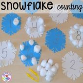 Winter Themed Activities and Centers (Snowman at Night Freebie too)!
