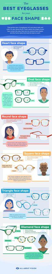 So wählen Sie Brillengestelle für Ihre Gesichtsform   – Vain stuff – #Brilleng… – glasses