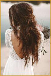 34 Boho Hochzeitsfrisuren zum Inspirieren-  34 # Boho Hochzeit #Frisuren zum Ins…