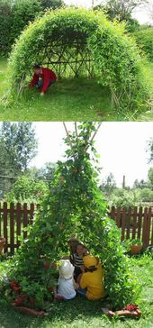 Tutorials and ideas on how to make magical living structures such as grapes … – Garden Ge