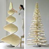 DIY-Weihnachtsbaum aus Holzlatten