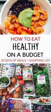 How to Eat Healthy on a Budget with Grocery List + Recipes