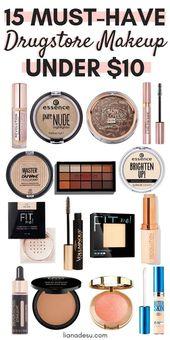 15 Best Drugstore Make-up muss unter 10