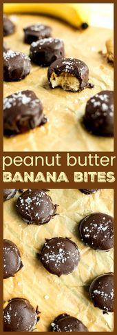Peanut Butter Banana Bites – Sliced bananas are …