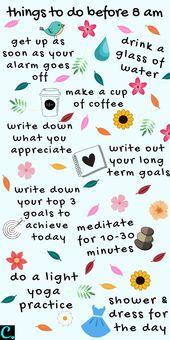 Die beste Morgenroutine: 8 Dinge, die vor 8 Uhr morgens zu tun sind