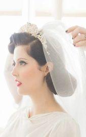 Vintage wedding hairstyles with tiara brides 39+ trendy Ideas #wedding #hairstyles #vintagewedding #vintage