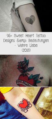 95+ Sweet Heart Tattoo Designs & Bedeutungen – Wahre Liebe (2018)  #bedeutungen …