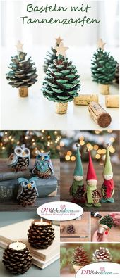 Making pine cones – The 15 most beautiful DIY craft ideas  – Lynn