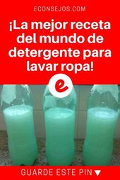 La Mejor Receta De Jabón Para Lavar Ropa Detergente Casero Jabon Casero Para Lavadora Productos De Limpieza Caseros