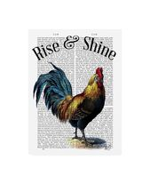 Fab Funky Rise and Shine Chicken Book Canvas Art – 19.5 x 26