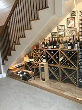 35 beliebte Weinkeller-Ideen unter der Treppe