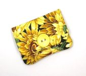 Take a look at my handmade wallet that is made with beautiful yellow Sunflower f…