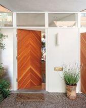 Chevron Door Mid Century Modern House Mid Century House Modern
