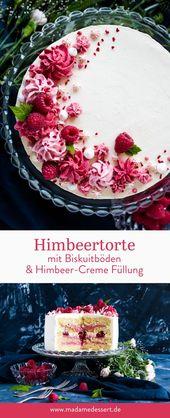 Rezept für fruchtigen Himbeerkuchen – Der perfekte Sommerkuchen zum Geburtstag …   – Rezepte