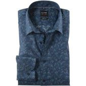 Olymp No. Six shirt, super slim, extra long sleeve, navy, 37 Olympolymp