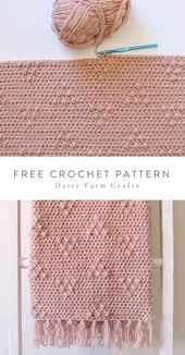 Free Crochet Pattern – Triangle Puffs Blanket