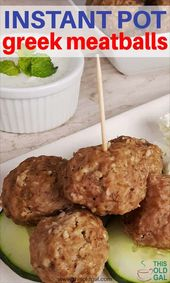 The aroma of Cinnamon, Mint, Cumin from these Instant Pot Greek Meatballs {Kefte…