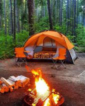 Camp Fire and CAMP Tent – how soothing it is ! Make sure you have this at your n… – Camping  Hacks and Camping Tents