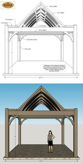 Texas: Unique Plan for Cedar DIY Timber Frame Pavilion Kit
