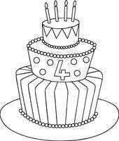 32 Awesome Image Of Birthday Cake Drawing Kuchen Zeichnung Geburtstagskuchen Geburtstagstorte