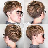 10 neue kurze Frisuren für dickes Haar, Frauen Haarschnitt Ideen