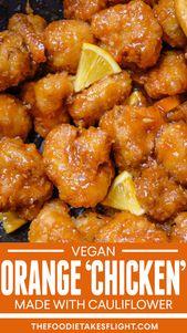 "Glazed Orange Cauliflower ""Hen"" (Vegan Recipe)"