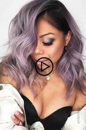 Pastell #Lavendel #Haar #Mit #Dunkel #Wurzeln #Lavendelhaar    – haarfarbe ideen